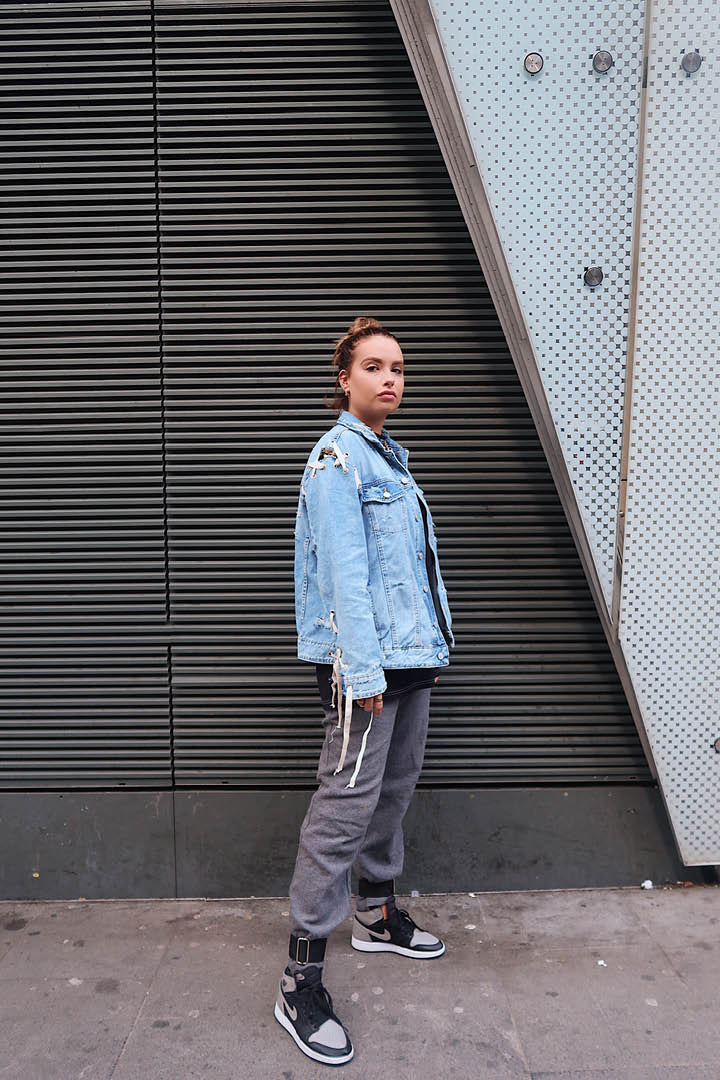 Denim and Grey Full Outfit