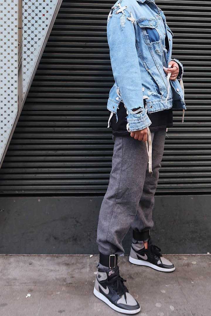 Denim and Grey Full Outfit Detailed
